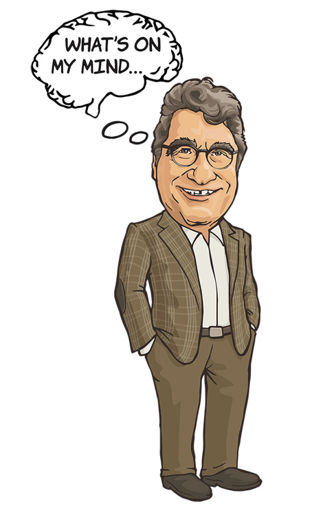 """What's On My Mind"" illustration of Chancellor Nicholas S. Zeppos"