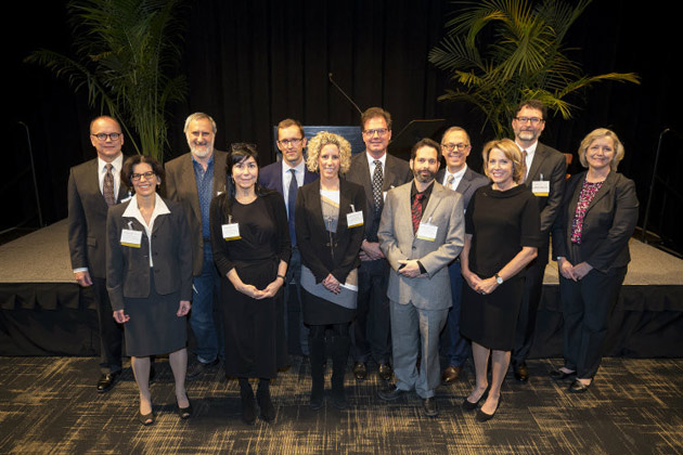 L-r: (first row) Alissa M. Weaver, Lorraine M. Lopez, Alyssa H. Hasty, David Zald, Mariann R. Piano, (second row) Richard B. Simerly, Vsevolod V. Gurevich, Matthew J. Tyska, Daniel J. Gervais, Warren D. Taylor, Danny G. Winder and Susan R. Wente. (Joe Howell/Vanderbilt)