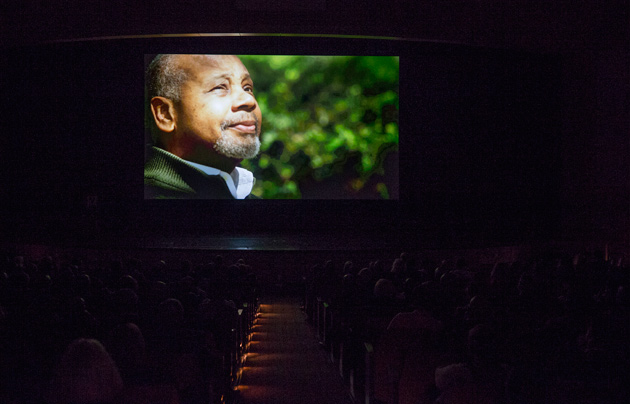 "The premiere of ""Triumph: The Untold Story of Perry Wallace"" was held Dec. 4 in Vanderbilt's Langford Auditorium. (Joe Howell/Vanderbilt)"