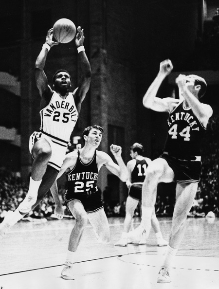 Perry Wallace in a game against the University of Kentucky. (Vanderbilt University)