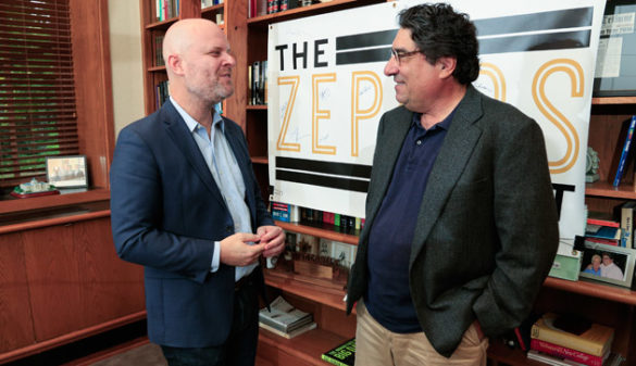 "Chancellor Nicholas S. Zeppos interviewed Vanderbilt writer-in-residence Andrew Maraniss for the latest episode of ""The Zeppos Report"" podcast. (Vanderbilt University)"