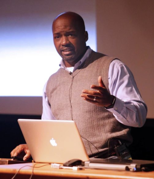"Rosevelt Noble, senior lecturer in sociology and director of the Bishop Joseph Johnson Black Cultural Center, recently taught an Osher Lifelong Learning class, ""Understanding America's Mass Incarceration Binge."" (Steve Green/Vanderbilt University)"