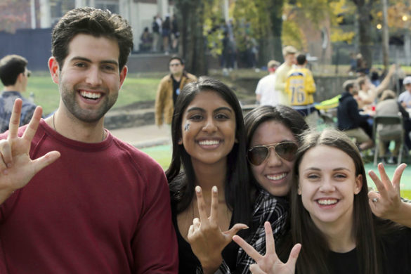 Vandy Fanatics hosted a football tailgate last Saturday at the Kensington Place pop-up park. The park, planned by the FutureVU team, was open from Nov. 8 to 12. (Steve Green/Vanderbilt)