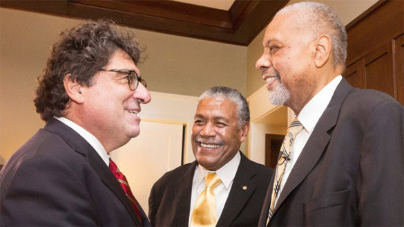 Chancellor Nicholas S. Zeppos, Godfrey Dillard and Perry Wallace (Vanderbilt University)
