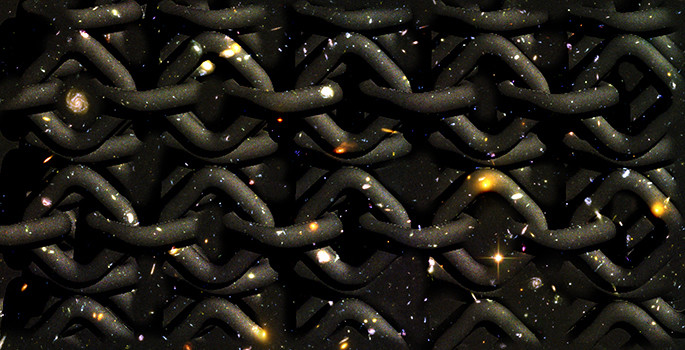 illustration of knots against a starry sky