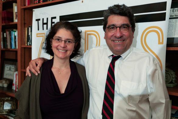 Suzana Herculano-Houzel and Chancellor Nicholas S. Zeppos (Vanderbilt University)