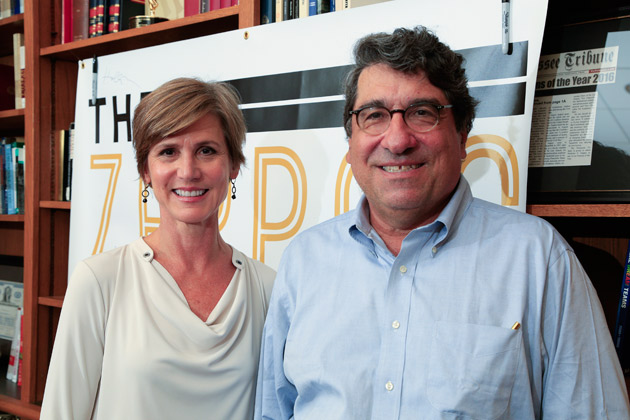 "Former Acting Attorney General Sally Yates joins Chancellor Nicholas S. Zeppos for ""The Zeppos Report"" podcast. (Vanderbilt University)"