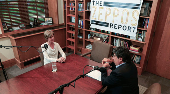 """Former Acting Attorney General Sally Yates joins Chancellor Nicholas S. Zeppos for """"The Zeppos Report"""" podcast. (Vanderbilt University)"""