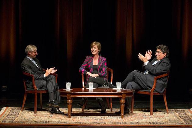 Vanderbilt Distinguished Visiting Professor Jon Meacham, former Acting Attorney General Sally Yates and Chancellor Nicholas S. Zeppos discussed