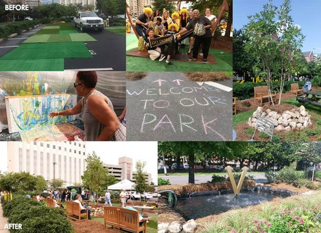This montage of photos from Vanderbilt's PARK(ing) Day held Sept. 15 is the eighth image in the album where you can vote for the 2017 People's Choice Award.