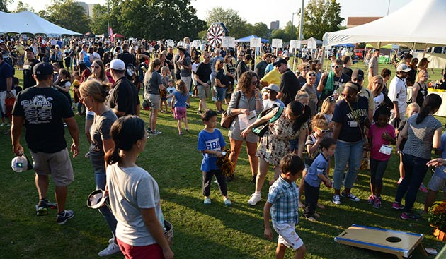 More than 5,260 employees, along with their families and friends, attended Vanderbilt's annual Employee Tailgate Sept. 16 and cheered the Commodores to a victory over Kansas State. (Vanderbilt University)