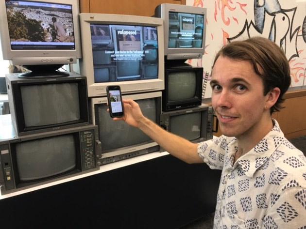 Jared Moore, a computer science graduate student at the University of Washington, is the artist behind vuExposed. (Heidi Hall/Vanderbilt)