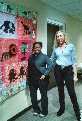 Next Steps student Nila Huddleston (left) took Sargent-Capps' costume design course, and the two collaborated on a quilt. (Vanderbilt University)