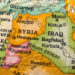 map detail showing syria iraq israel jordan
