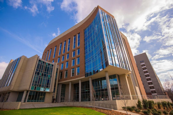 This 250,000-square-foot structure is home to both the Engineering and Science Building, which includes laboratories, classrooms and a state-of-the-art clean room, and Vanderbilt's Innovation Pavilion, which includes the Wond'ry and its makerspace. (Daniel DuBois/Vanderbilt)