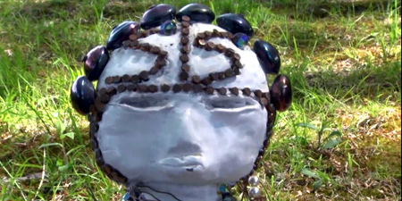 """Image from Haitian vodou ritual in """"Legal Sorcery,"""" a new performance monologue by Colin Dayan."""