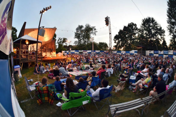 A typical night at Shakespeare in the Park at Centennial Park. (courtesy of the Nashville Shakespeare Festival)