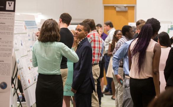 Students hosted by the elite Vanderbilt Summer Science Academy presented their research—from stem cells to Zika—at the 15th annual Student Research Symposium held Aug. 3 at the Engineering and Science Building. (Joe Howell/Vanderbilt)