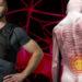 model wearing smart back bace