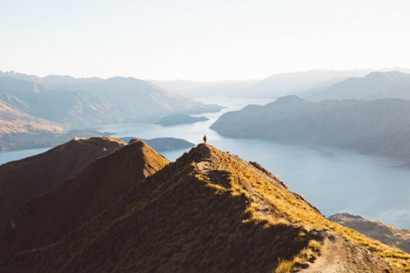 """A photograph taken on top of Roy's Peak in Wanaka, New Zealand"" by Nia Warren"