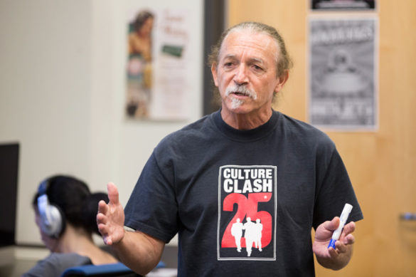 Students were mentored by Gustavo Vazquez, visiting media artist and scholar-in-residence and professor of film and digital media at the University of California, Santa Cruz. (Joe Howell/Vanderbilt)