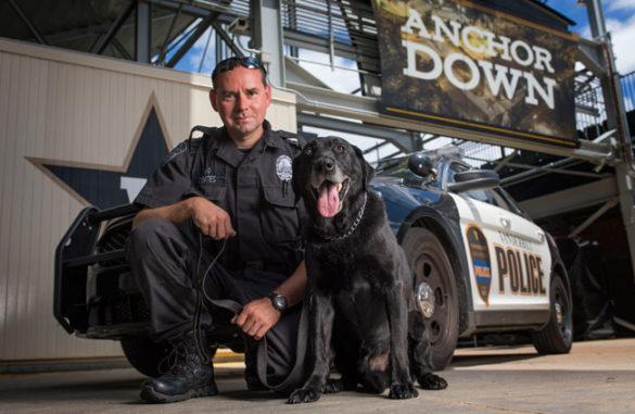 VUPD Sgt. Jason Bates and Cpl. Gauge (John Russell/Vanderbilt)
