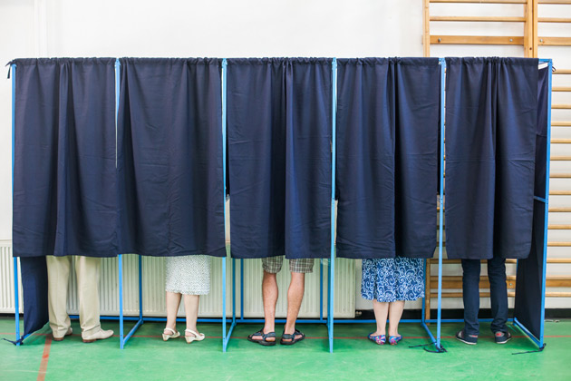 Voting booth (iStockphoto)
