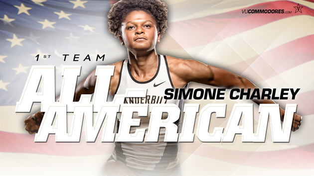 Commodore track and field star Simone Charley added to her list of accomplishments on Friday when she was named a first-team Academic All-American for track and field/cross country by the College Sports Information Directors of America.