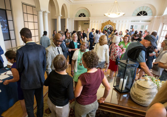 """Food from Inside the Travel Ban,"" a fundraiser for TN Justice for Our Neighbors, was held June 1 at the Wyatt Center Rotunda. (Joe Howell/Vanderbilt)"