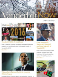 """Vanderbilt Now"" won a Gold award in the Newsletter, Electronic category."