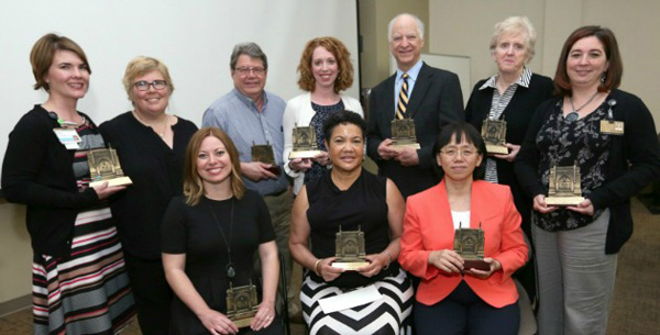 The Vanderbilt University School of Nursing (VUSN) presented its annual awards to faculty, staff and a friend of the school during its spring assembly on May 18. (Vanderbilt University)