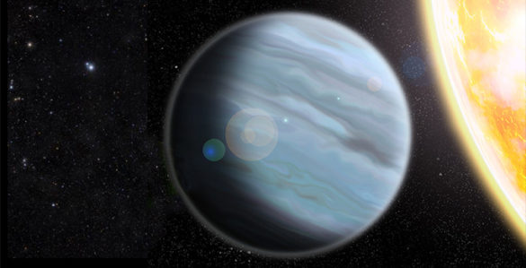 painting of a gas giant planet