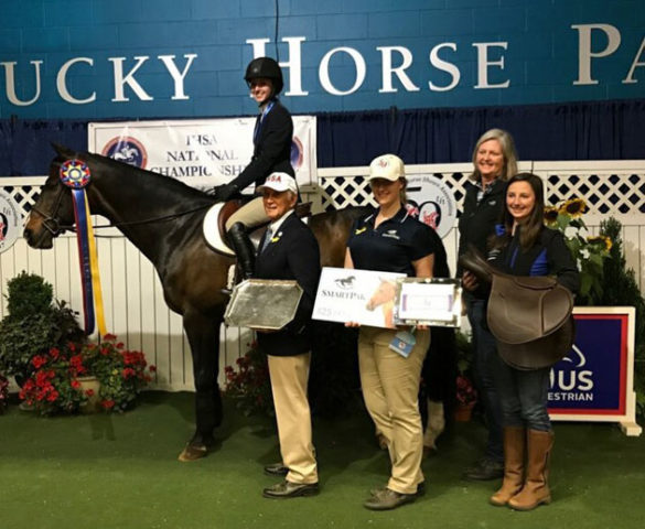 Caroline Biggs, a rising junior from Knoxville, Tennessee, won the 2017 National Championship for Individual Novice Flat at the Intercollegiate Horse Show Association competition in Lexington, Kentucky.