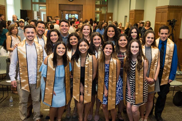 Latin members of the Class of 2017 participated in the Sí Se Pudo ceremony May 11 at Central Library. (Vanderbilt University)