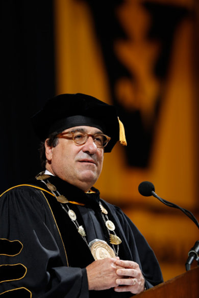 Chancellor Nicholas S. Zeppos addressed nearly 4,000 graduating students on May 12. (Vanderbilt University)