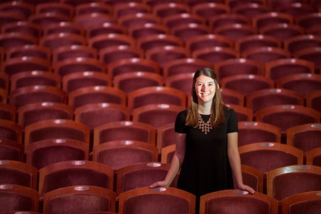 Nicole Long is a Wilma Ward Scholar. She was photographed at the Schermerhorn Symphony Center in Nashville. (Susan Urmy/Vanderbilt)