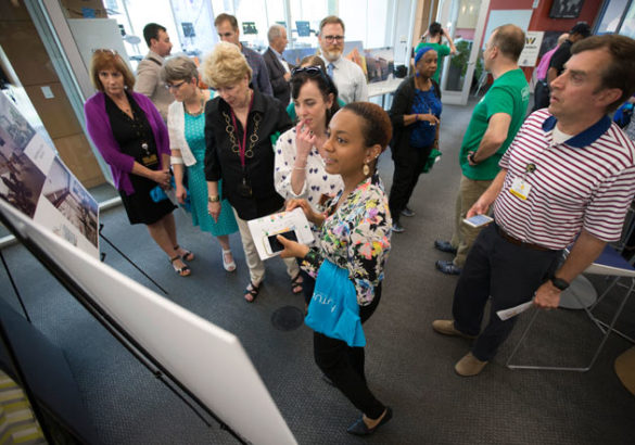 More than 800 students, staff, faculty and others stopped by the Wond'ry April 19 to learn about FutureVU and how the university's built environment might change over the next 20-30 years. (Joe Howell/Vanderbilt)