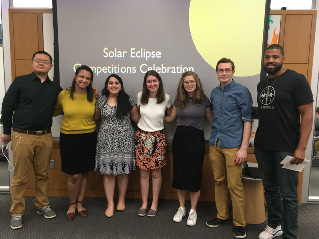 Winners of the Solar Eclipse Competitions Celebration. (Vanderbilt University)