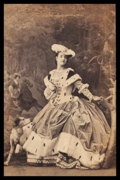 "Carte-de-visite: Adelina Patti as Harriet in Friedrich von Flotow's opera ""Martha,"" 1861"