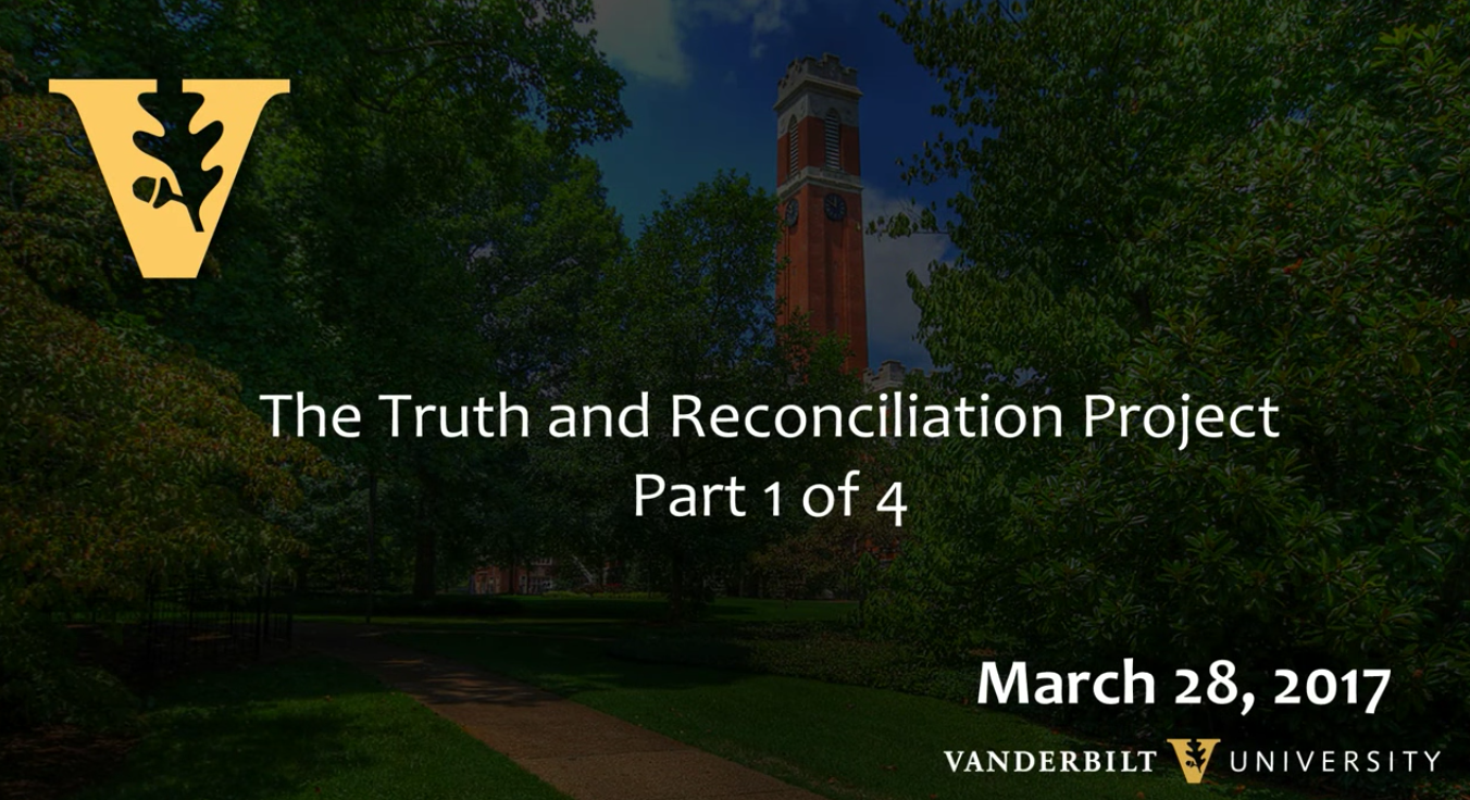 The Truth and Reconciliation Project, Part 1