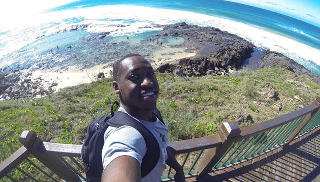 Vanderbilt football running back Ralph Webb completed a study abroad experience in Australia in summer 2016. (Ralph Wee/Vanderbilt)