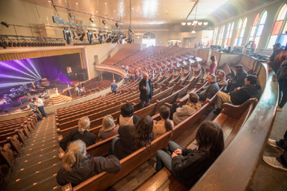 Blair School of Music senior lecturer Robert Fry talks about the history of Ryman Auditorium. (Vanderbilt University)