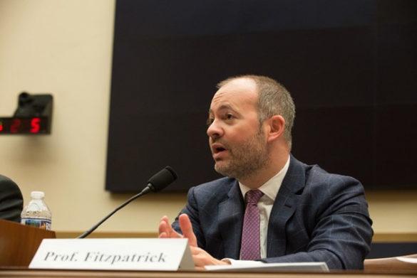 Brian Fitzpatrick testifies before the House Judiciary subcommittee on March 16, 2017. (Vanderbilt/Gediyon Kifle)