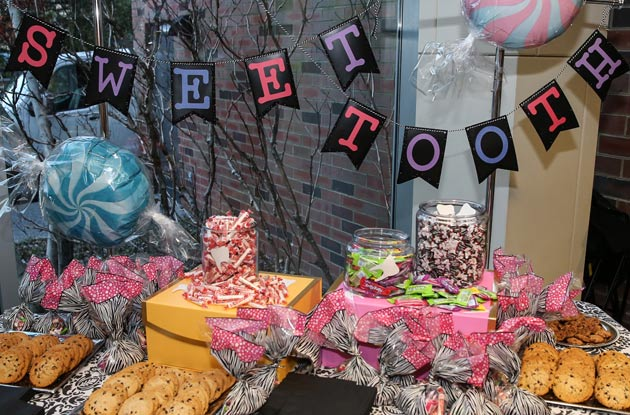 A table of sweets in the Ingram Hall lobby ahead of the Roomful of Teeth concert on March 15. (Vanderbilt University)