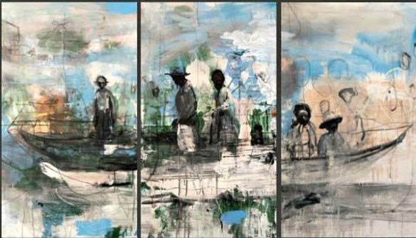 """The """"Triptych"""" art exhibition is hosted by the Religion in the Arts and Contemporary Culture program at Vanderbilt Divinity School."""