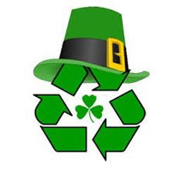 St. Patrick's Day recycling logo
