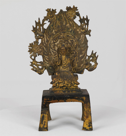 Buddha, gilt bronze, dated 537, Eastern Wei Dynasty, h. 22 cm, Berenson Art Collection, Villa I Tatti – The Harvard University Center for Italian Renaissance Studies.