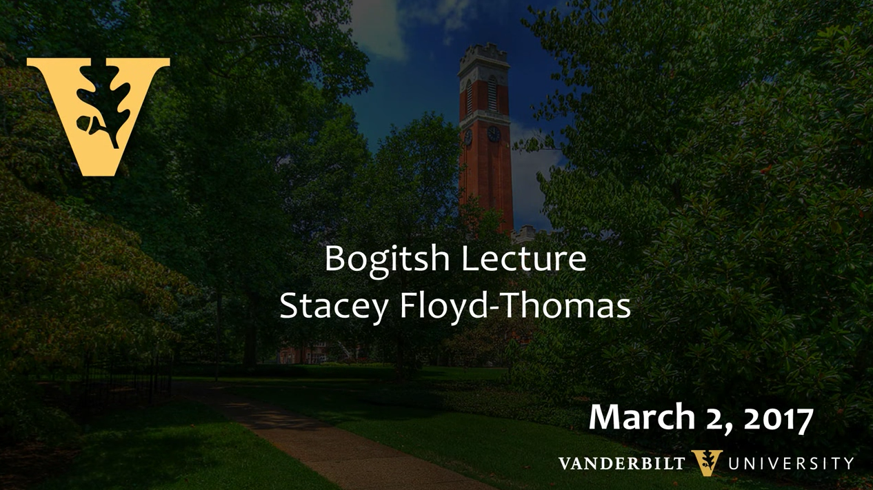 Stacey Floyd-Thomas Lecture