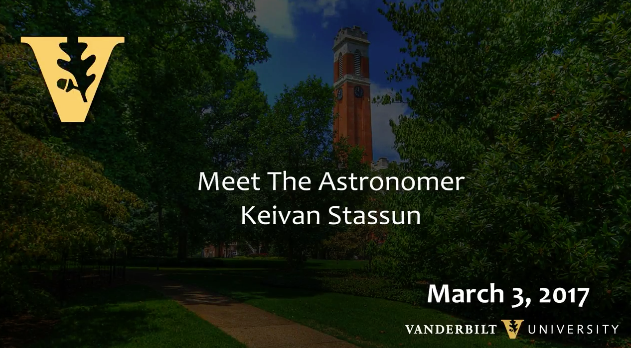 Meet the Astronomer: Dr. Keivan Stassun