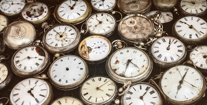 collection of vintage pocket watches